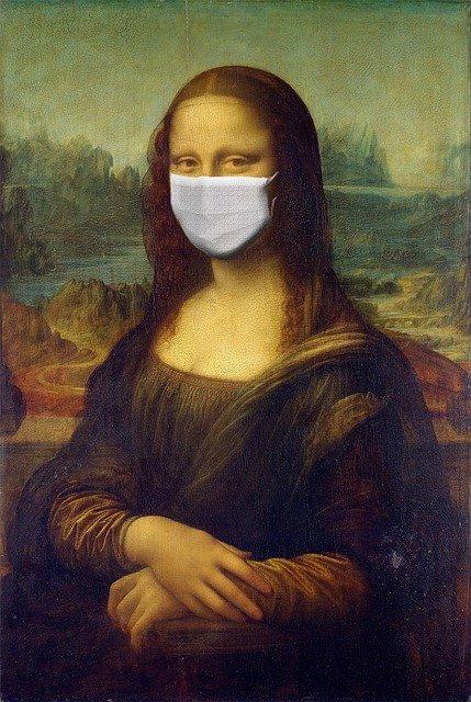 Mona Lisa Covid Mask